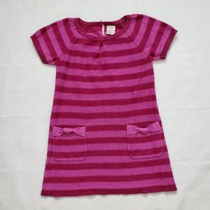 Old Navy Girl's Pink & Red Stripe Knit Dress 4T